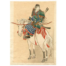 尾形月耕: Tomoe, the Female Warrior - Japanese Art Open Database