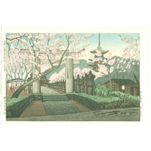 Gihachiro Okuyama: Cherry Blossoms at Toshogu Shrine - Japanese Art Open Database