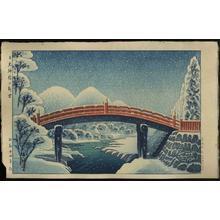 Gihachiro Okuyama: New Snow at the Sacred Bridge in Nikko - Japanese Art Open Database