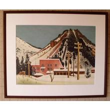 Gihachiro Okuyama: Snow at the Power Generator- Oka Shikanosuke — 雪の発電所(岡鹿之助) - Japanese Art Open Database