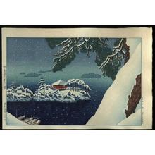 Gihachiro Okuyama: Snow in Matsushima — Matsushima Godaido no Yuki - Japanese Art Open Database