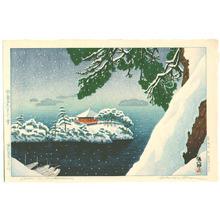Gihachiro Okuyama: Snow in Matsushima — Matsushima Godaido no Yuki - Japanese Art Open Database