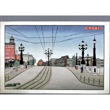 Gihachiro Okuyama: Tokyo Nihonbashi Bridge — 東京日本橋 - Japanese Art Open Database