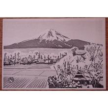 Gihachiro Okuyama: snowcapped Mt Fuji - Japanese Art Open Database