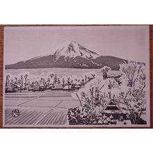 Gihachiro Okuyama: snowcapped Mt Fuji - Japanese Art Open Database