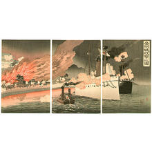 安達吟光: Attack on Jinzhou Fortress - Japanese Art Open Database