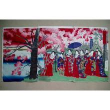 Adachi Ginko: Scene of Sightseeing on the Riverbank of Sumitakuma — 墨陀堤遊覧之図 - Japanese Art Open Database