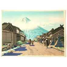 Goro Tsuruta: Mount Fuji from Yoshida Road — Yoshida Guchi no Fuji - Japanese Art Open Database