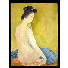 橋口五葉: Nude After Bath- watercolour - Japanese Art Open Database