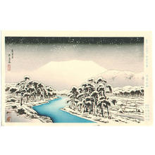 橋口五葉: Snowy River - Japanese Art Open Database