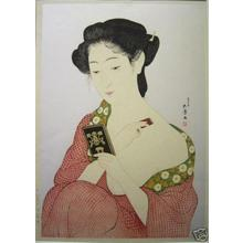 Hashiguchi Goyo: Woman Applying Makeup- Kesho no Onna — 化粧の女 - Japanese Art Open Database