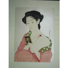 橋口五葉: Woman Applying Makeup- Kesho no Onna — 化粧の女 - Japanese Art Open Database