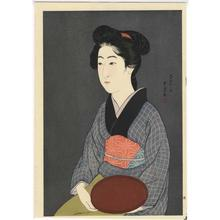 Hashiguchi Goyo: Woman Holding a Tray - Bon Moteru Onna - Japanese Art Open Database