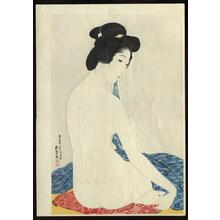 Hashiguchi Goyo: Woman after a Bath — 化粧の女 - Japanese Art Open Database
