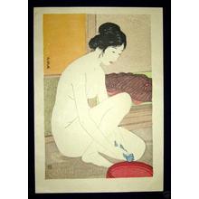橋口五葉: Woman at the Bath — 浴場の女-ゆあみ- 浴後裸女 - Japanese Art Open Database