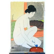 Hashiguchi Goyo: Woman at the Bath — 浴場の女-ゆあみ- 浴後裸女 - Japanese Art Open Database
