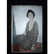 橋口五葉: Woman in a Summer Kimono — 夏衣の女 - Japanese Art Open Database