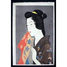 橋口五葉: Woman with Hand Towel - Japanese Art Open Database
