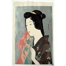 橋口五葉: Woman with Hand Towel - Japanese Art Open Database