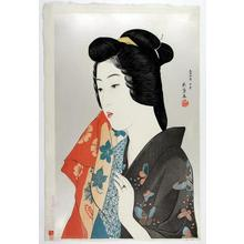 Hashiguchi Goyo: Woman with Hand Towel - Japanese Art Open Database