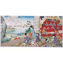 河鍋暁翠: Flower Month- May — 花月 - Japanese Art Open Database