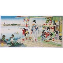 河鍋暁翠: Fumizuki- Seventh Month- July — 文月 - Japanese Art Open Database