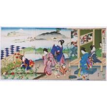 河鍋暁翠: Kikuzuki- 9th Month- September — 菊月 - Japanese Art Open Database