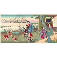 河鍋暁翠: Satsuki- fifth month of the lunar calendar- May — 皐月 - Japanese Art Open Database