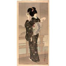 Hakuho Hirano: Summer Rain, Beppu Hotspring — Natsusugata (Beppu) - Japanese Art Open Database