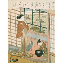 Suzuki Harunobu: Homing Sailboats at Shinagawa - Japanese Art Open Database