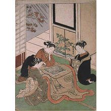 Suzuki Harunobu: Beautiese browsing illustrated Kabuki program illustrated Kabuki program - Japanese Art Open Database