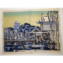 橋本興家: Chiyoda Castle in Snow - Japanese Art Open Database