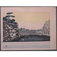 橋本興家: Unknown, castle bridge - Japanese Art Open Database