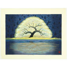 Hayashi Waichi: Tree at Lakeside - Japanese Art Open Database