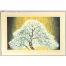 Hayashi Waichi: Tree in The Light - III - Japanese Art Open Database