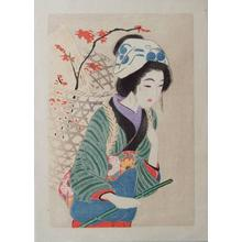 Hirezaki Eiho: Bijin with load - Japanese Art Open Database