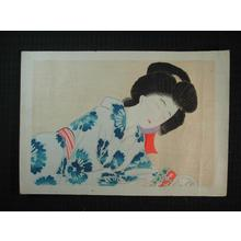 Hirezaki Eiho: Tired look - Japanese Art Open Database