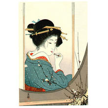 Hirezaki Eiho: Plum Beauty - Japanese Art Open Database