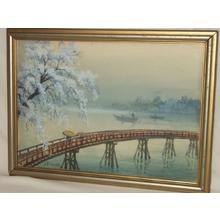 吉田博: Bridge in Spring - Japanese Art Open Database
