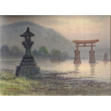 Yoshida Hiroshi: Miyajima temple, Tsukishima Shrine - Japanese Art Open Database