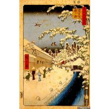 Utagawa Hiroshige: Yabukoji at the foot of Mt. Atago - Japanese Art Open Database