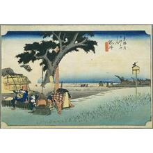 Utagawa Hiroshige: Fukuroi — 袋井 - Japanese Art Open Database