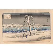 Utagawa Hiroshige: View From the Sumida River Embankment — 隅田川 堤の景 - Japanese Art Open Database