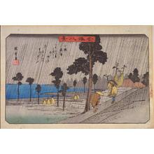 Utagawa Hiroshige: Night Rain at Koizumi — 小泉夜雨 - Japanese Art Open Database