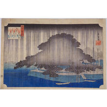 Utagawa Hiroshige: Night Rain at Karasaki — 唐崎夜雨 - Japanese Art Open Database