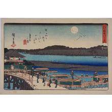 Utagawa Hiroshige: Moon Over the Sumida River — 隅田川之月 - Japanese Art Open Database