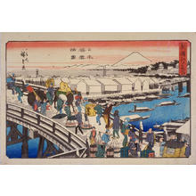 歌川広重: Clear Weather after Snow at Nihombashi Bridge — 日本橋雪晴ノ図 - Japanese Art Open Database