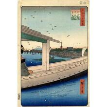 歌川広重: Distant View of Kinryuzan Temple and Azuma Bridge - Japanese Art Open Database