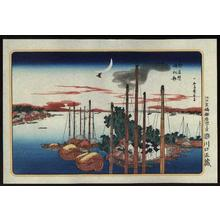 Utagawa Hiroshige: First Cuckoo of the year at Tsukuda Island - Japanese Art Open Database
