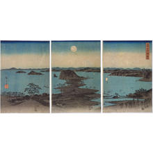 歌川広重: Night View of Eight Scenic Spots at Kanazawa, Musashi Province — 武陽金沢八勝夜景 - Japanese Art Open Database